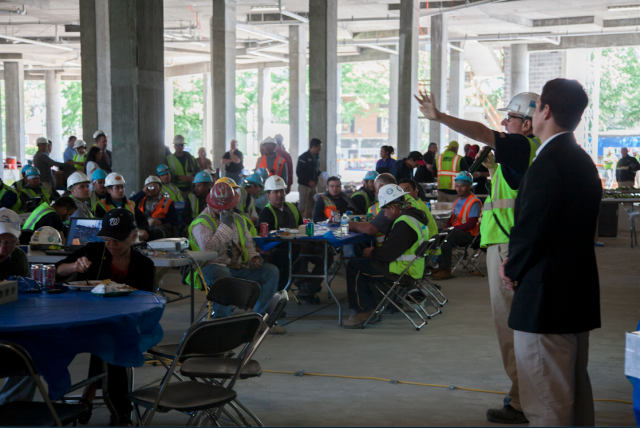 Life's Good at the Top: West Broad's Topping Out Party