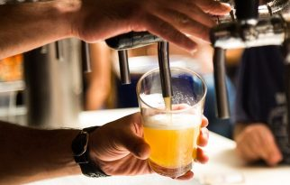 Explore the Great Wall of Beer at Westover Beer Garden & Haus