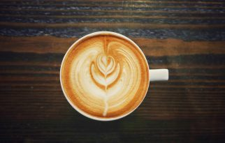 Order the Nutella Latte at Smiley's in Falls Church